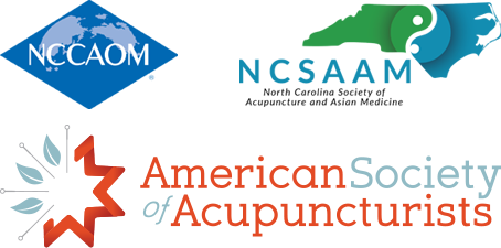 NCCAOM, NCSAAM, and American Society of Acupuncturists logos