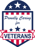 proudly caring for veterans logo